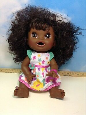 2012  Hasbro Baby Alive Real Surprises Doll Eats, pees, poops talks African Amer