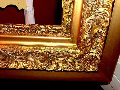 ANTIQUE LARGE FRAME French Baroque Style Gild Ornate for Vintage Painting Mirror