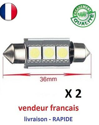 2 ampoule Led Navette 36mm C5w Canbus Anti Erreur Blanc Pur 6000k tuning voiture