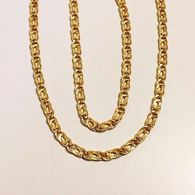 """18k solid yellow gold(3mm)Mancini chain(18""""/24"""")"""