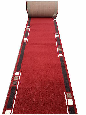 New Bayliss Rugs Humble HALL RUNNER Polyester 80cm wide Burgundy Red per metre