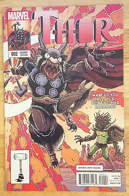 Thor # 2 Rocket Raccoon and Groot Variant Edition Marvel