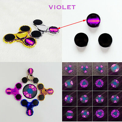 3Pcs Violet LED Flash Light Button Switch Counterweight For Fidget Hand Spinner