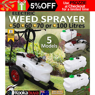 Electric Weed Sprayer 50L to 100L Tank With Optional Boom and Heavy Duty Trailer