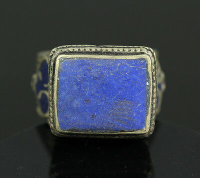 Near Eastern Ancient Persia Seljuk replica Antiqued Ring Egyptian Lapis Lazuli