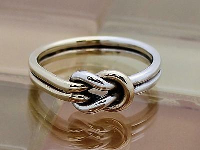 James Avery Silver & Gold Lovers' Knot Two Tone Ring, Size 7, 2.8G, RETIRED!!!