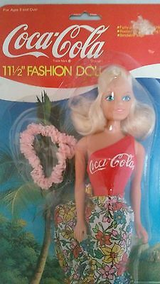 "Coca Cola 11 1/2"" Barbie Fashion Doll + Active Sportswear Coke Clothes Outfit"
