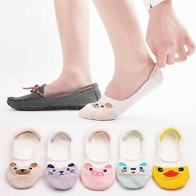 5/10 Pairs Women Invisible No Show Nonslip Liner Low Cut Cotton Boat Socks