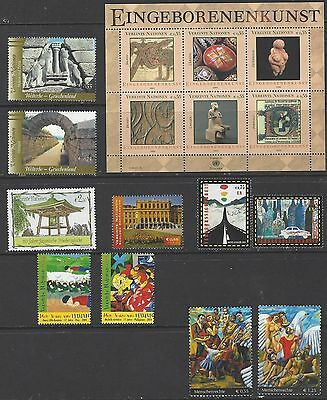 2004 United Nations Vienna Year Stamp Collection MNH