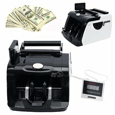 Professional Money Bill Counter Cash Counting Machine UV MG Counterfeit Detector