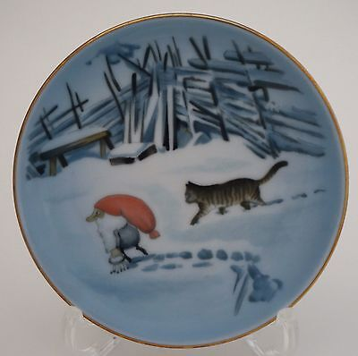 Bing & Grondahl HARALD WIBERG Vintage Small Butter Pat Plate GNOME CAT (Nisse)