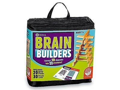 Keva Brain Builders Puzzle Cards Game Strategic Educational Challenge 2D to 3D