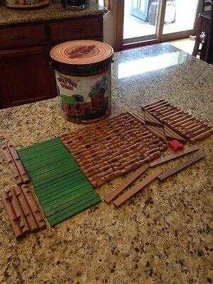 Tumble Tree Timbers 146 Pieces Wood Log Building Set Lincoln Logs Compatible