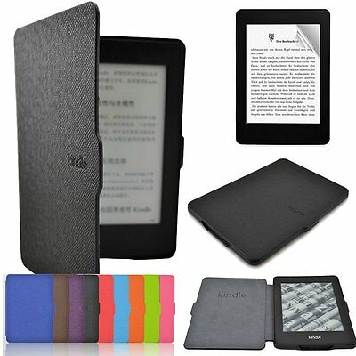 Luxury Leather Flip Magnetic Smart Wake Case For Amazon Kindle Paperwhite 1 2 3