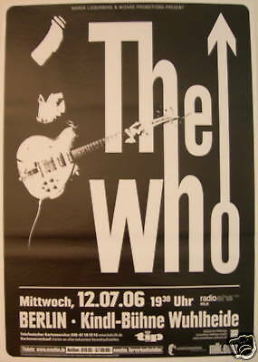 The Who Concert Tour Poster 2006