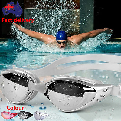 Anti Fog Waterproof Mirrored Swimming Goggles Professional  UV Protect GlassesFX