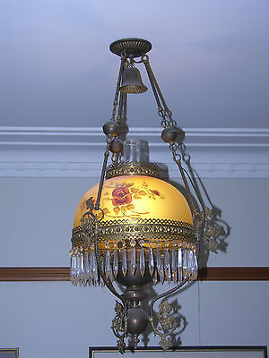 hanging oil lamp - electrified