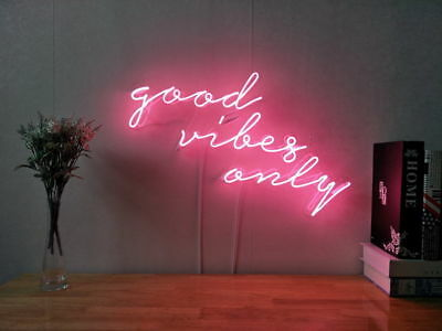 New Good Vibes Only Neon Sign For Bedroom Wall Home Decor Artwork With Dimmer