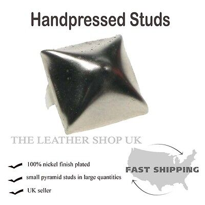 "5/8"" Old Silver Pyramid Clothing Leather Craft Accessory Punk Rock Metal Studs"