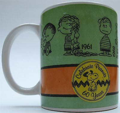 Gibson Linus Peanuts Collectible Celebrate Peanuts 60 Years  Coffee Mug Cup