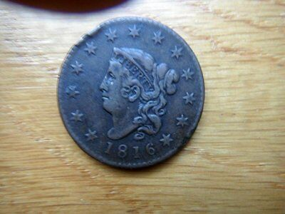 Early U.S. Coin   1816 Large Cent  Two Hundred Years Old   Awesome!