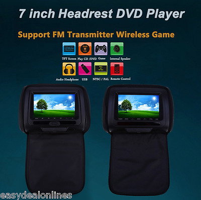 Universal Car Headrest DVD Player 7 Inch 800 x 480 LCD Screen Backseat Monitor
