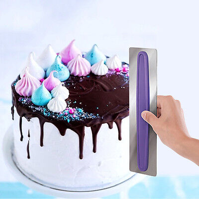 Stainless Steel Blade Decorate Smart Icing Smoother Cake Modeling Decorative