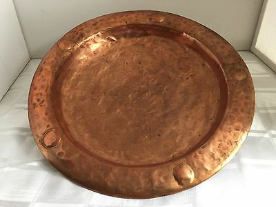 "Vintage Copper Charger Plate 14""/35.25cm Arts & Crafts ENGLAND"