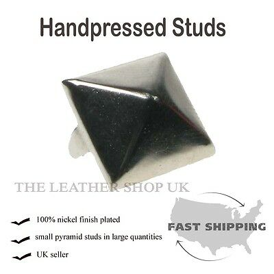 "5/8"" New Silver Pyramid Clothing Leather Craft Accessory Punk Rock Metal Studs"
