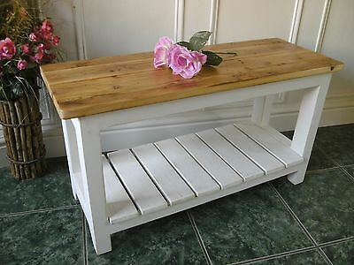 vintage style bench shabby chic wooden bench