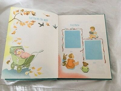 Vintage Baby's First Diary FIVE YEARS Sweet Lithographs