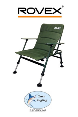 Rovex Carp Fishing Specimen Chair with Arms Low