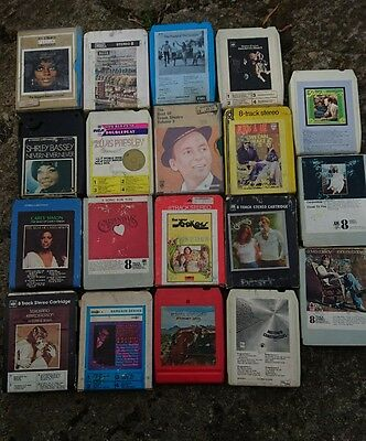 19, 8 Track Cassettes.