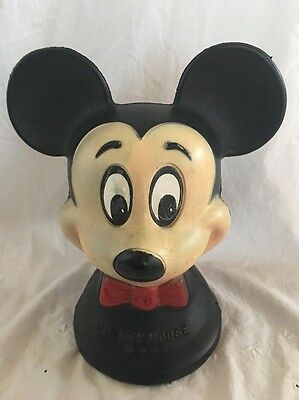 Vintage RELIABLE Toys Canada MICKEY MOUSE COIN BANK WDP Walt Disney Productions