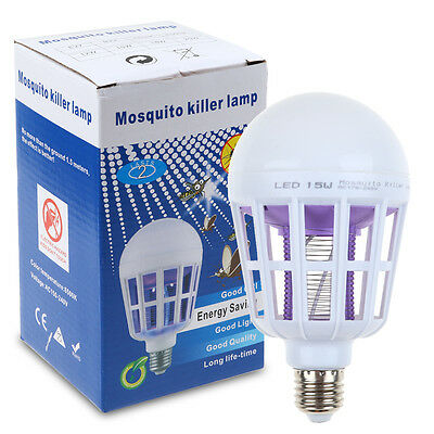 E27 Mosquito Bug Zapper Fly Insects Moth Killer Catcher Trap Lamp Electric