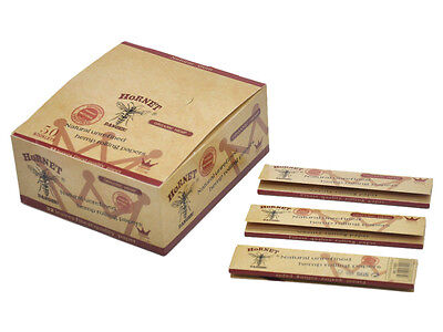 50 x Hornet Organic Brown 110MM Smoking Cigarette Rolling Paper 32leaves