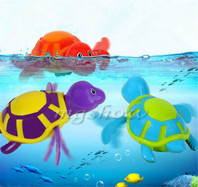 Wind up Swimming Turtle Animal Toy For Kids Baby Children Pool Bath Time e1