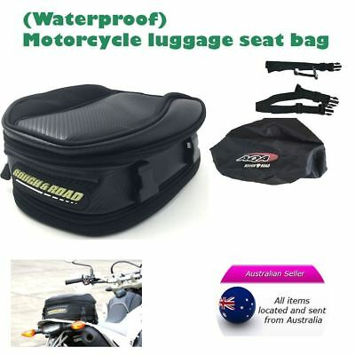 Expandable Scooter Motorcycle Luggage Seat Touring Saddle Bag Rear Tail Bag Case