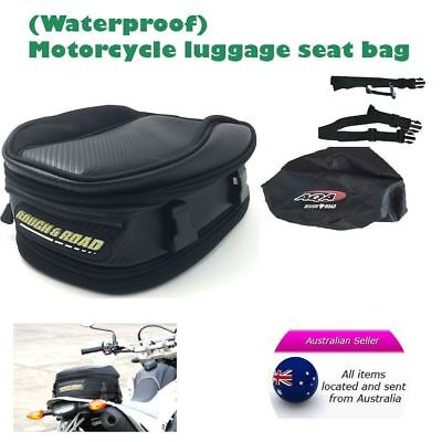 Motorcycle motorbike scooter luggage seat bag tail pack expandable waterproof AU