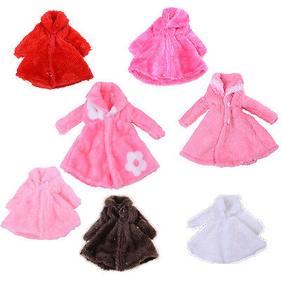 7 Style Kids Doll Accessories Winter Warm Wear Fur Coat Clothes For 1/6  Doll SK