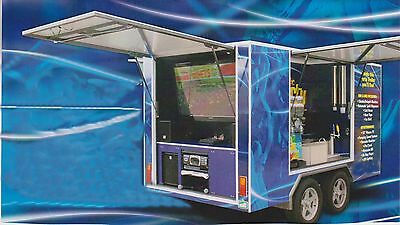 Party Trailer Hire Business Entertainment Slushie Machine Karaoke TV Coldroom