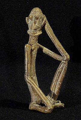 Old Bronze Dogon Mali Man - Arte Africano Hombre  Bronce