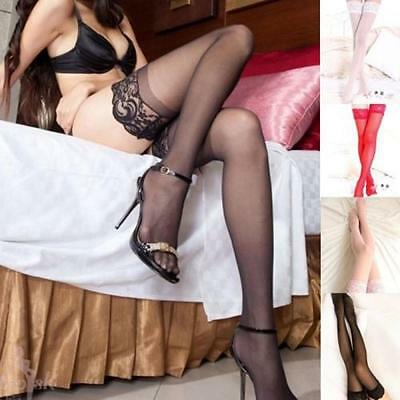 Nightclubs Ladies Sexy Fashion Pantyhose Lace Top Stay Up Thigh High Stockings
