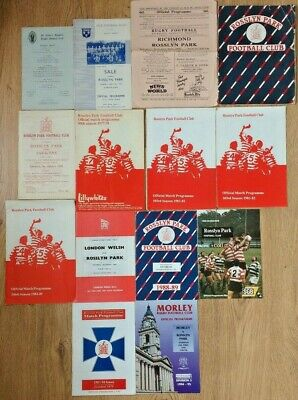 Rosslyn Park Rugby Union Programmes 1953 - 2000