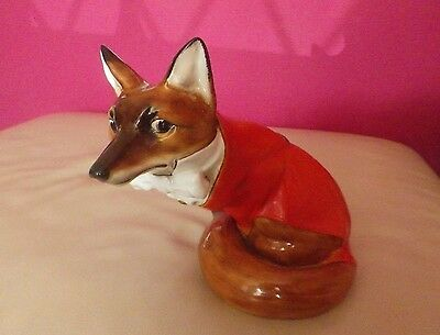 Very Rare Royal Doulton Fox In Hunting Dress Hn 100 - Very Good Condition !!