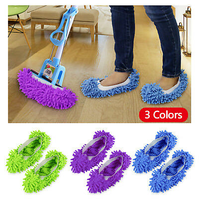 3 Pair House Floor Foot Sock Shoe Mop Slipper Lazy Quick Polishing Cleaning Dust