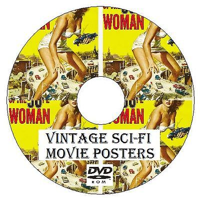 Vintage Science Fiction Movie Poster Collection 200 images on DVD high resolutio