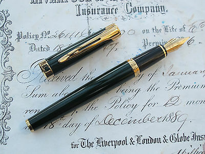 "Waterman L'etalon ""vintage"" Fountain Pen -  Green Laquer/gold Trim Wow Looook"