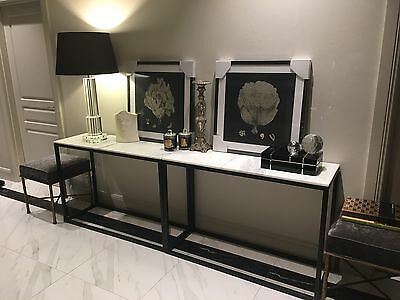 Brand new modern designer marble top console table -One remaning only!