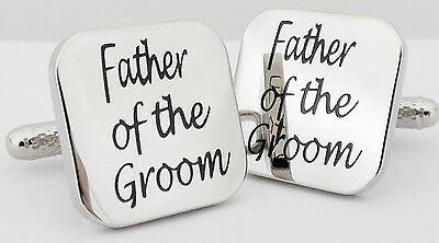 Wholesale Job Lot 49x Pairs Silver Square Father of the Groom Wedding Cufflinks